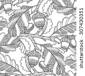 seamless pattern in doodle... | Shutterstock .eps vector #307430351