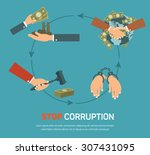 corruption infographic banner... | Shutterstock .eps vector #307431095
