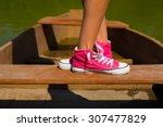 boat shoes feet | Shutterstock . vector #307477829