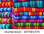 mayan blankets textile designs... | Shutterstock . vector #307481474