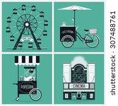 lovely set of vector... | Shutterstock .eps vector #307488761