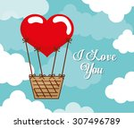 love digital design  vector... | Shutterstock .eps vector #307496789