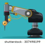 robot digital design  vector... | Shutterstock .eps vector #307498199
