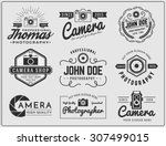 set of photography and camera... | Shutterstock .eps vector #307499015