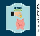 money concept design  vector... | Shutterstock .eps vector #307499774