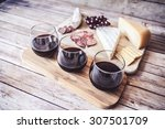 wine with appetizer | Shutterstock . vector #307501709
