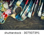 Artist Paint Brushes And...
