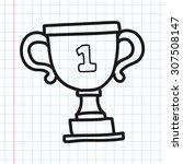 trophy doodle | Shutterstock .eps vector #307508147