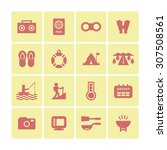 a set of vector icons for... | Shutterstock .eps vector #307508561