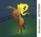 mula sem cabeca  headless mule  ... | Shutterstock .eps vector #307510004