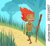 curupira  guardian of forests   ... | Shutterstock .eps vector #307510007