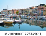 old city and harbor in cannes ... | Shutterstock . vector #307514645