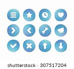 set of vector interface buttons ...