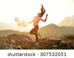 Girl dancing on artist point at ...