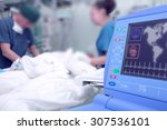 monitor in the hospital ward in ... | Shutterstock . vector #307536101