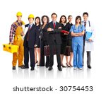 large group of smiling people.... | Shutterstock . vector #30754453
