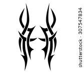 tribal tattoo vector design... | Shutterstock .eps vector #307547834
