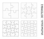 jigsaw puzzle four vector... | Shutterstock .eps vector #307559861