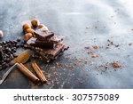 Chocolate  Nuts  Spices On A...