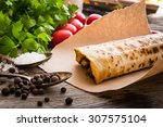Burrito On Parchment With...