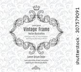 frame acanthus vintage signage... | Shutterstock .eps vector #307579091
