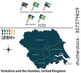 vector map of yorkshire and the ... | Shutterstock .eps vector #307579829