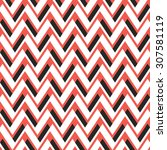 seamless dynamic chevron... | Shutterstock .eps vector #307581119