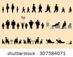 obese people pictogram | Shutterstock .eps vector #307584071