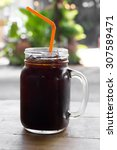 delicious ice coffee americano... | Shutterstock . vector #307589471