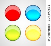 web buttons set | Shutterstock .eps vector #307597631