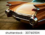 back of vintage car in sepia... | Shutterstock . vector #30760504