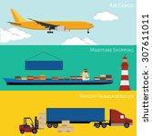 vector illustration of logistic ... | Shutterstock .eps vector #307611011