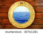 Boat Closed Porthole With...