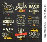 back to school calligraphic... | Shutterstock .eps vector #307615211