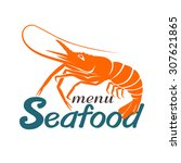 seafood labels and signs vector. | Shutterstock .eps vector #307621865