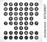 alphabet letters. stamp... | Shutterstock .eps vector #307628807