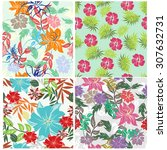 floral seamless pattern  ... | Shutterstock .eps vector #307632731