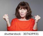success concept   beautiful... | Shutterstock . vector #307639931