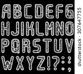 original font consisted of... | Shutterstock .eps vector #307647755