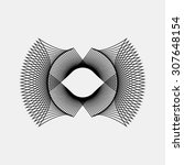 black abstract fractal shape... | Shutterstock .eps vector #307648154