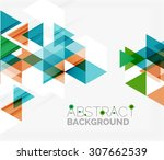 abstract geometric background.... | Shutterstock .eps vector #307662539