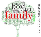 family info text graphics and... | Shutterstock .eps vector #307663334