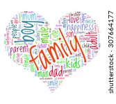 family info text graphics and... | Shutterstock .eps vector #307664177