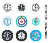 set of darts icons in different ...
