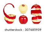 Collection Of Apples With Peel...
