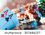 cards and chips for poker | Shutterstock . vector #307686257