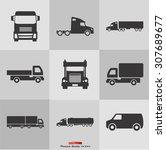 truck icon | Shutterstock .eps vector #307689677