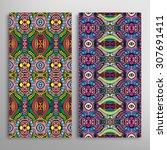 vector seamless vertical... | Shutterstock .eps vector #307691411