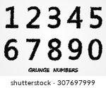 grunge numbers.set of grunge...   Shutterstock .eps vector #307697999