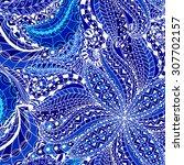 seamless floral pattern. hand... | Shutterstock . vector #307702157